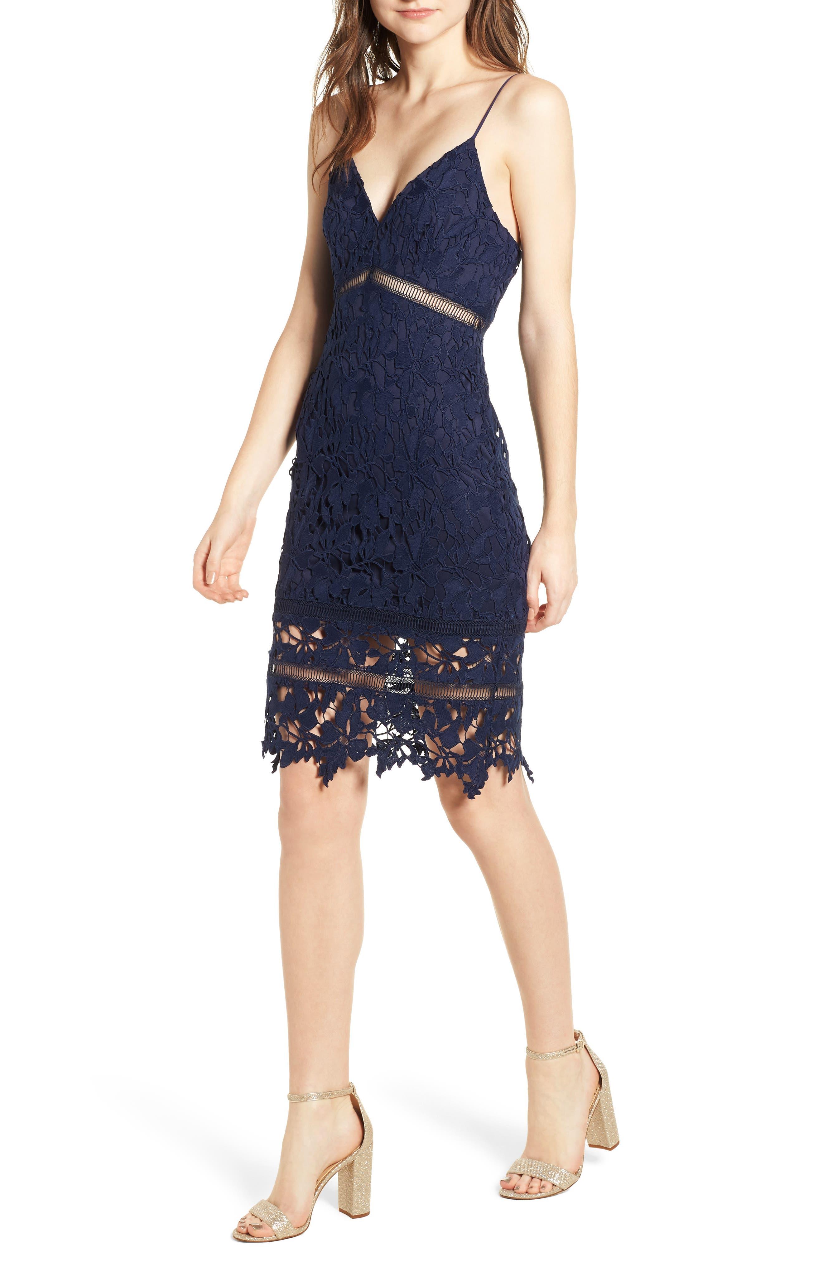 ,                             ASTR Lace Bodycon Dress,                             Main thumbnail 8, color,                             400