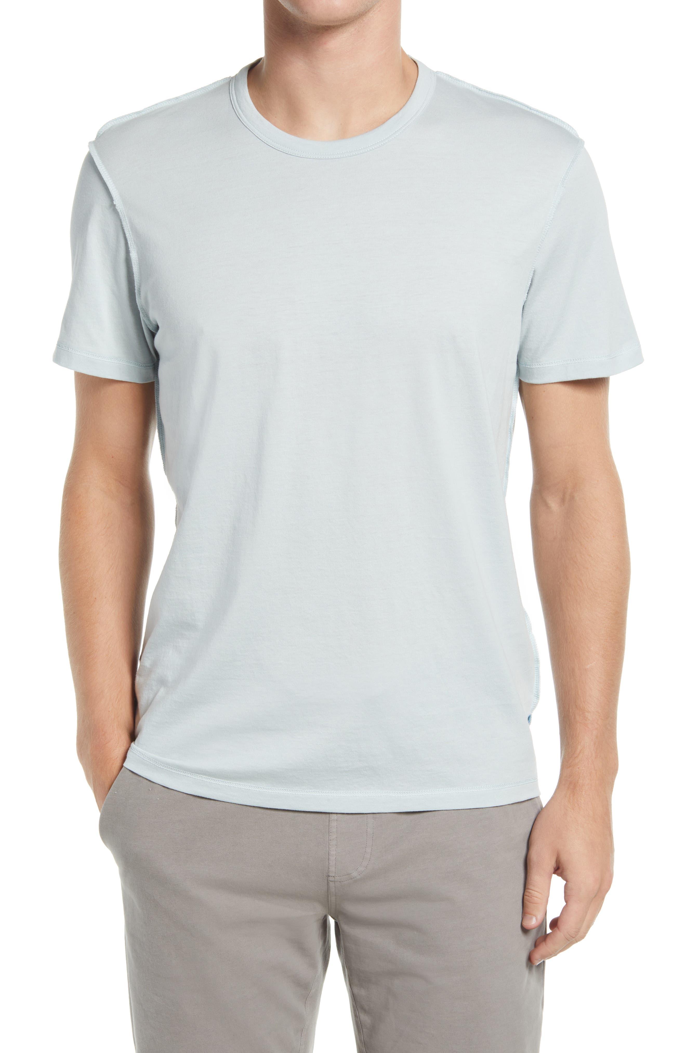 Jason Scott Reverse Seam Distressed Pima Cotton T-Shirt