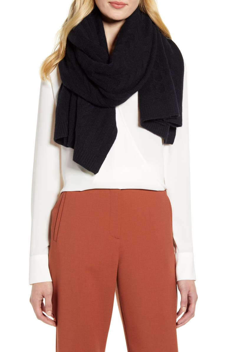 Cable Cashmere Scarf by Halogen®