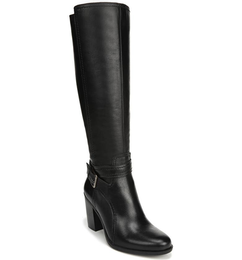 NATURALIZER Kelsey Knee High Boot, Main, color, 001