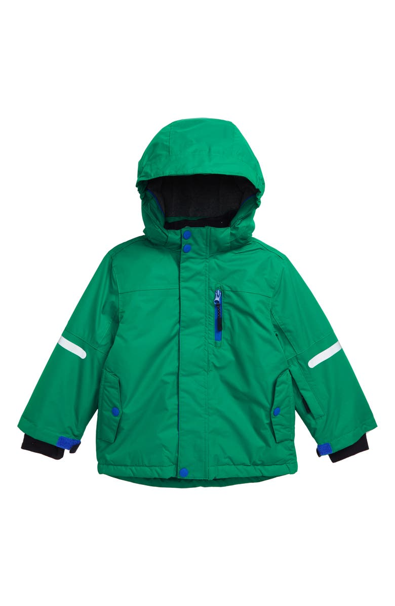 MINI BODEN Polar Bear Waterproof Hooded Jacket, Main, color, 315