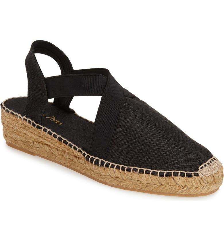 TONI PONS 'Vic' Espadrille Slingback Sandal, Main, color, BLACK FABRIC