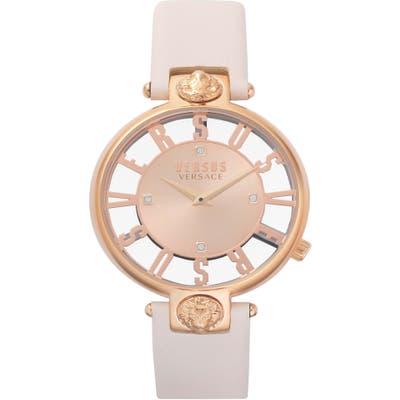 Versus By Versace Kristenhof Leather Strap Watch,