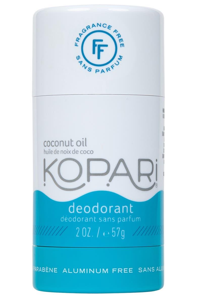 KOPARI Coconut Fragrance Free Deodorant, Main, color, FRAGRANCE FREE