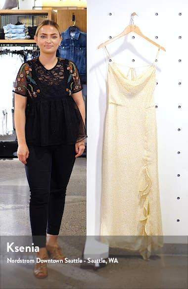 Farah Cowl Neck Chiffon Maxi Dress, sales video thumbnail