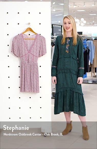 Ladder Stitch Floral Minidress, sales video thumbnail