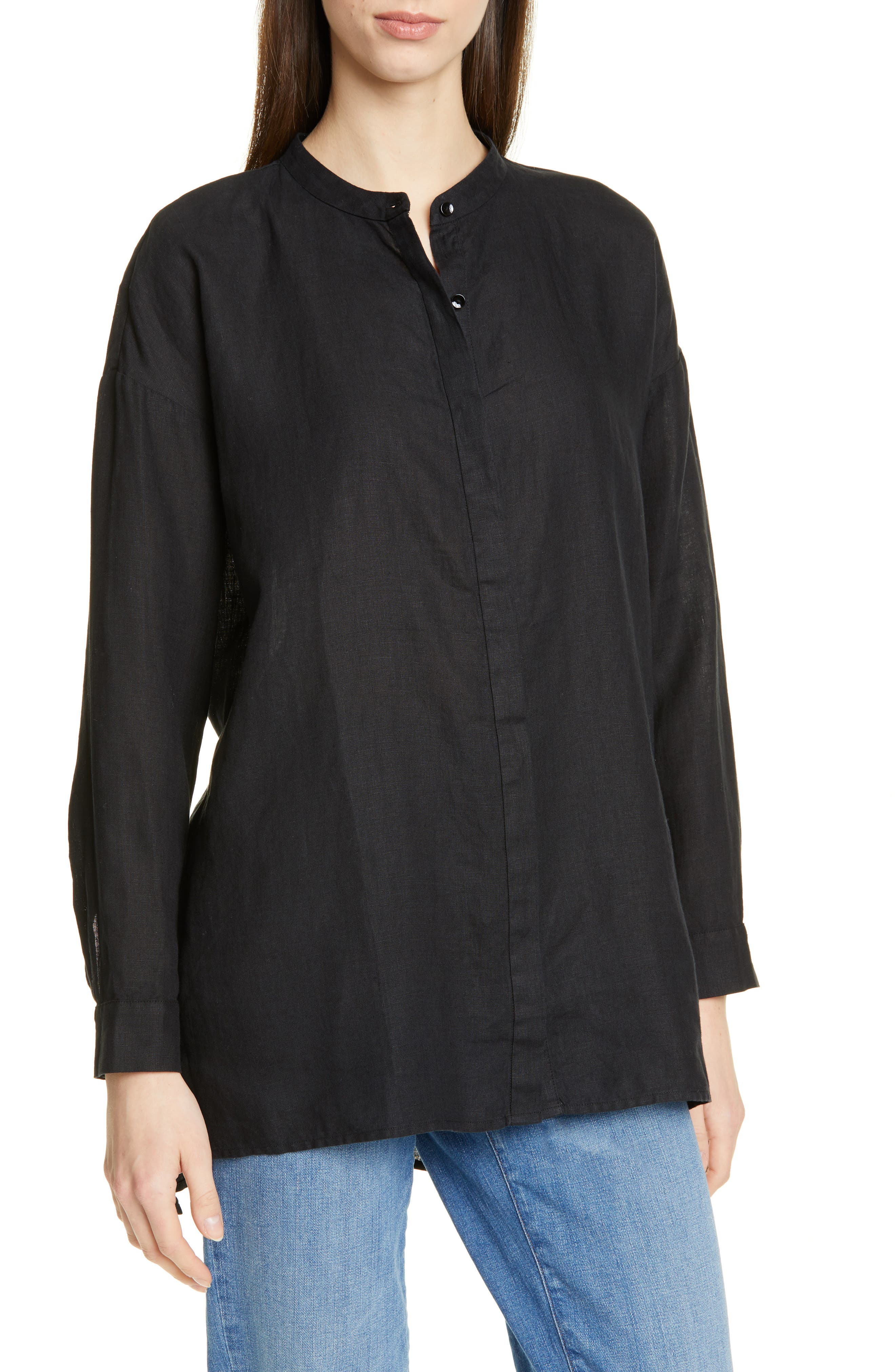 Image of Eileen Fisher Organic Linen Tunic Shirt