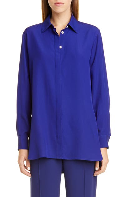 Rosetta Getty T-shirts CREPE BACK SATIN SHIRT