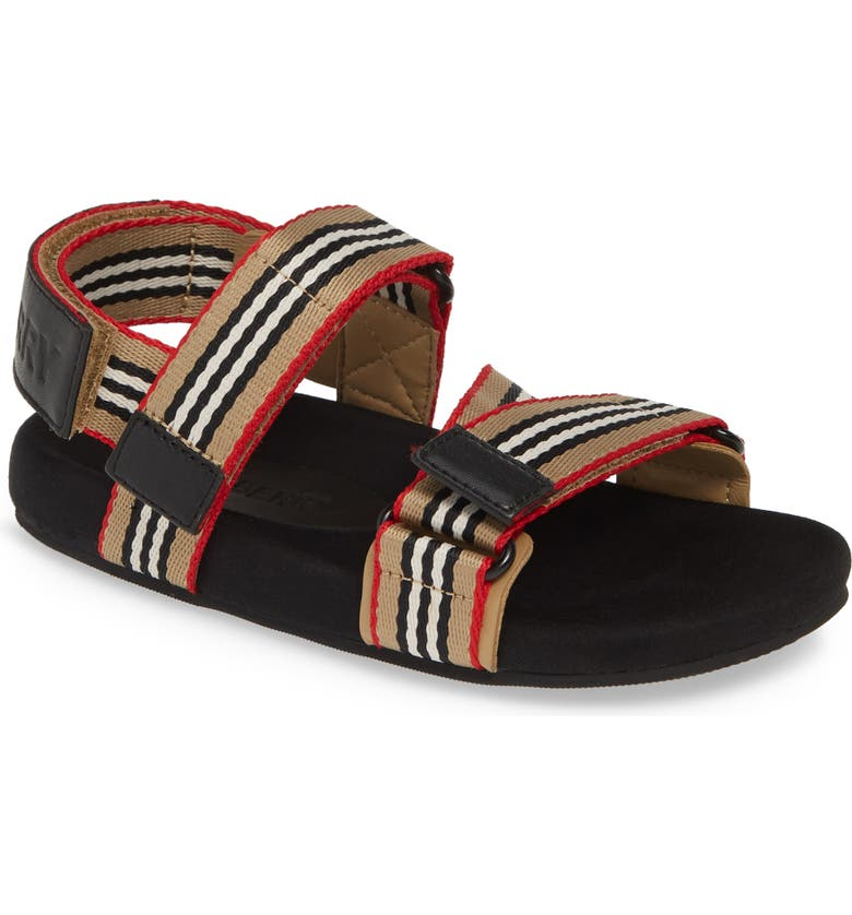 BURBERRY Redmire Sandal, Main, color, ARCH BEIGE/BLACK