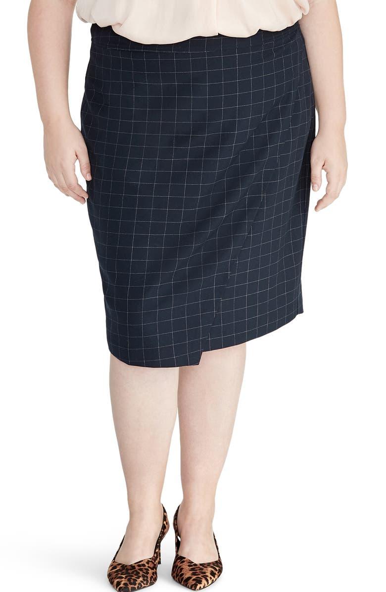 RACHEL ROY COLLECTION Windowpane Pencil Skirt, Main, color, 411