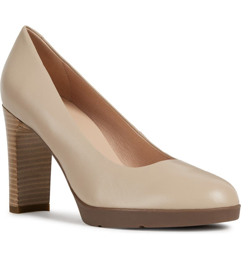 GEOX Annya Pump, Main, color, BEIGE LEATHER