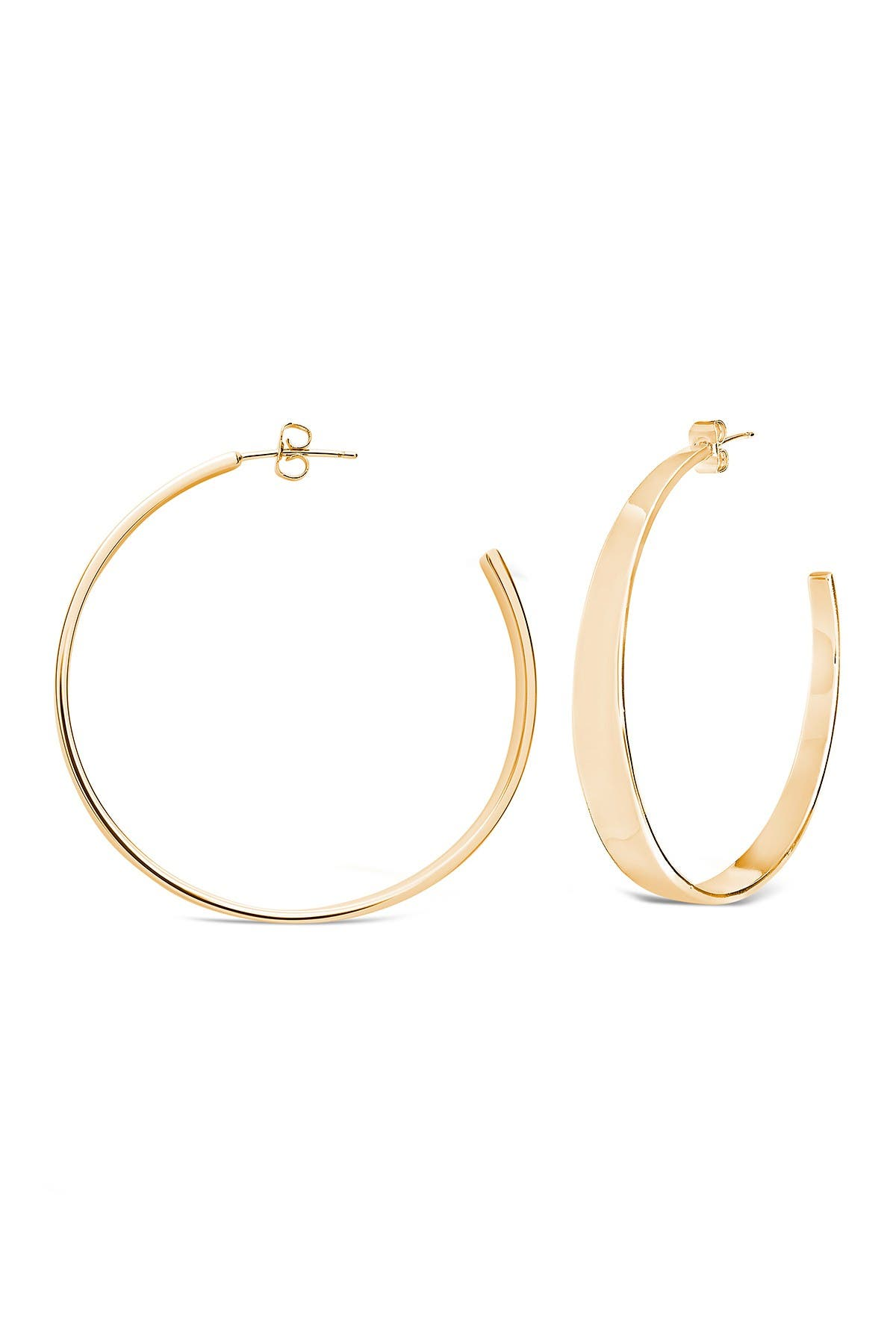 Image of Sterling Forever Graduated Hoop Earrings