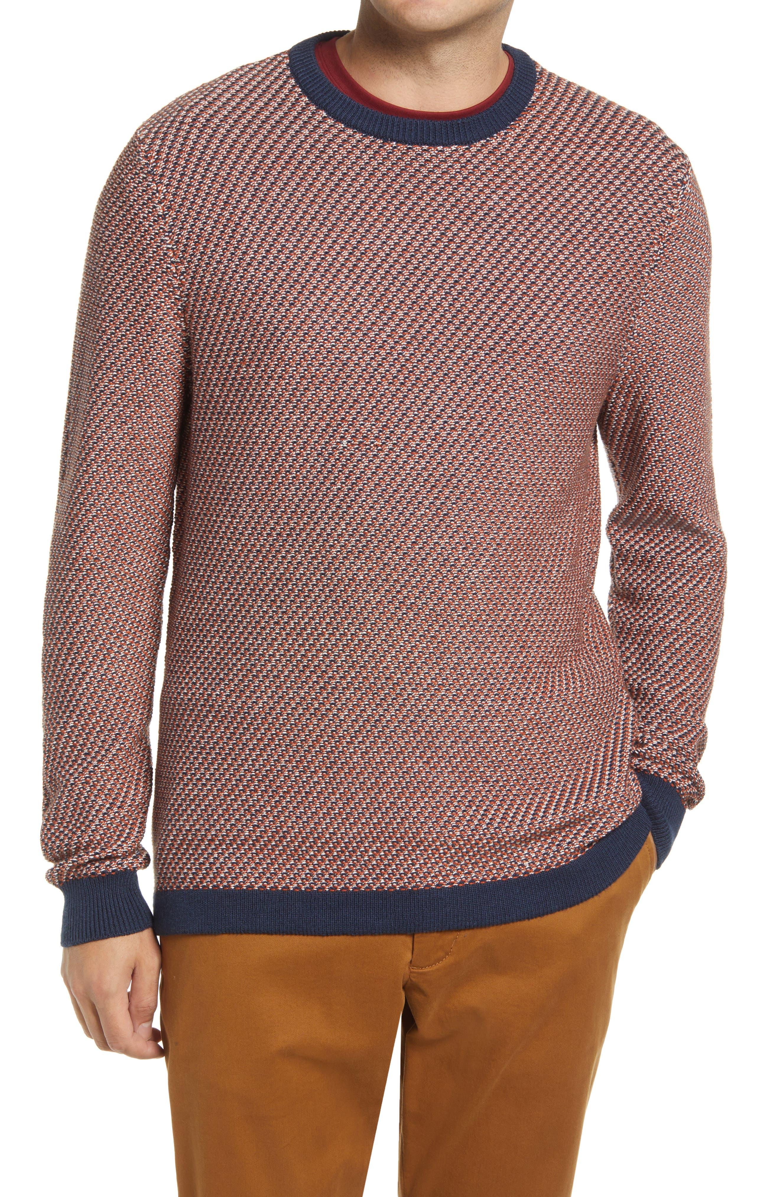 1920s Men's Sweaters, Cardigans, Knitwear Nordstrom Mini Pattern Crewneck Sweater Size Xx-Large in Navy Blazer Multi at Nordstrom $49.50 AT vintagedancer.com
