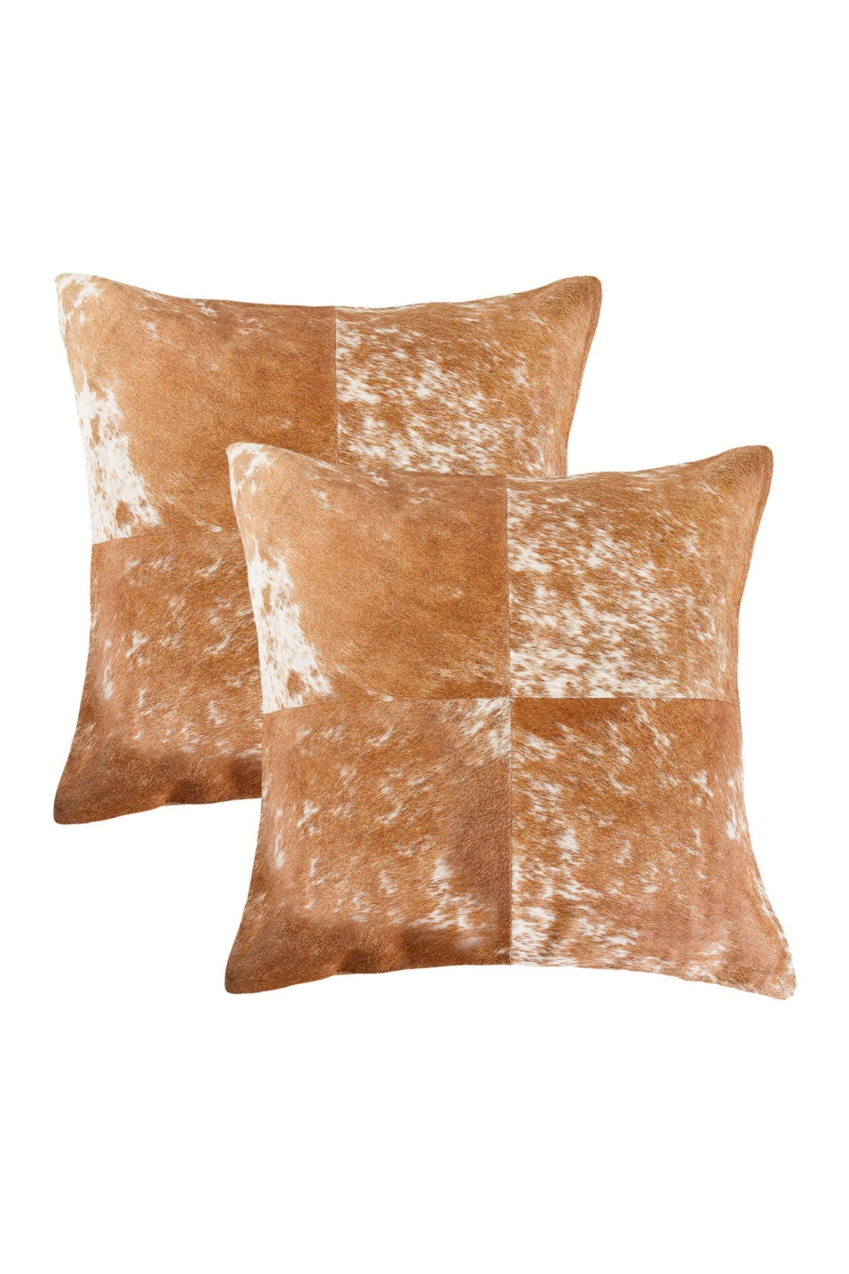 """Image of Natural Torino Quattro Pillow 18"""" X 18"""" - S&P Brown/White - Pack of 2"""