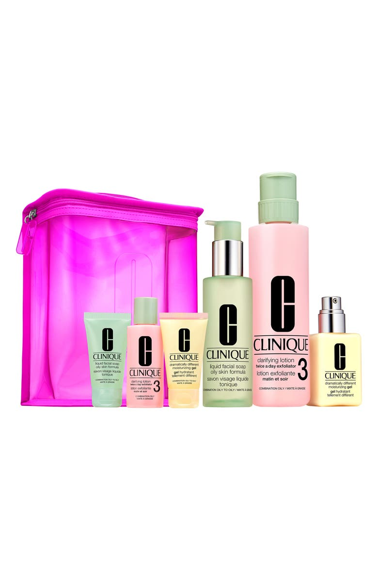 CLINIQUE Great Skin Home & Away Set for Skin Types III & IV, Main, color, 000