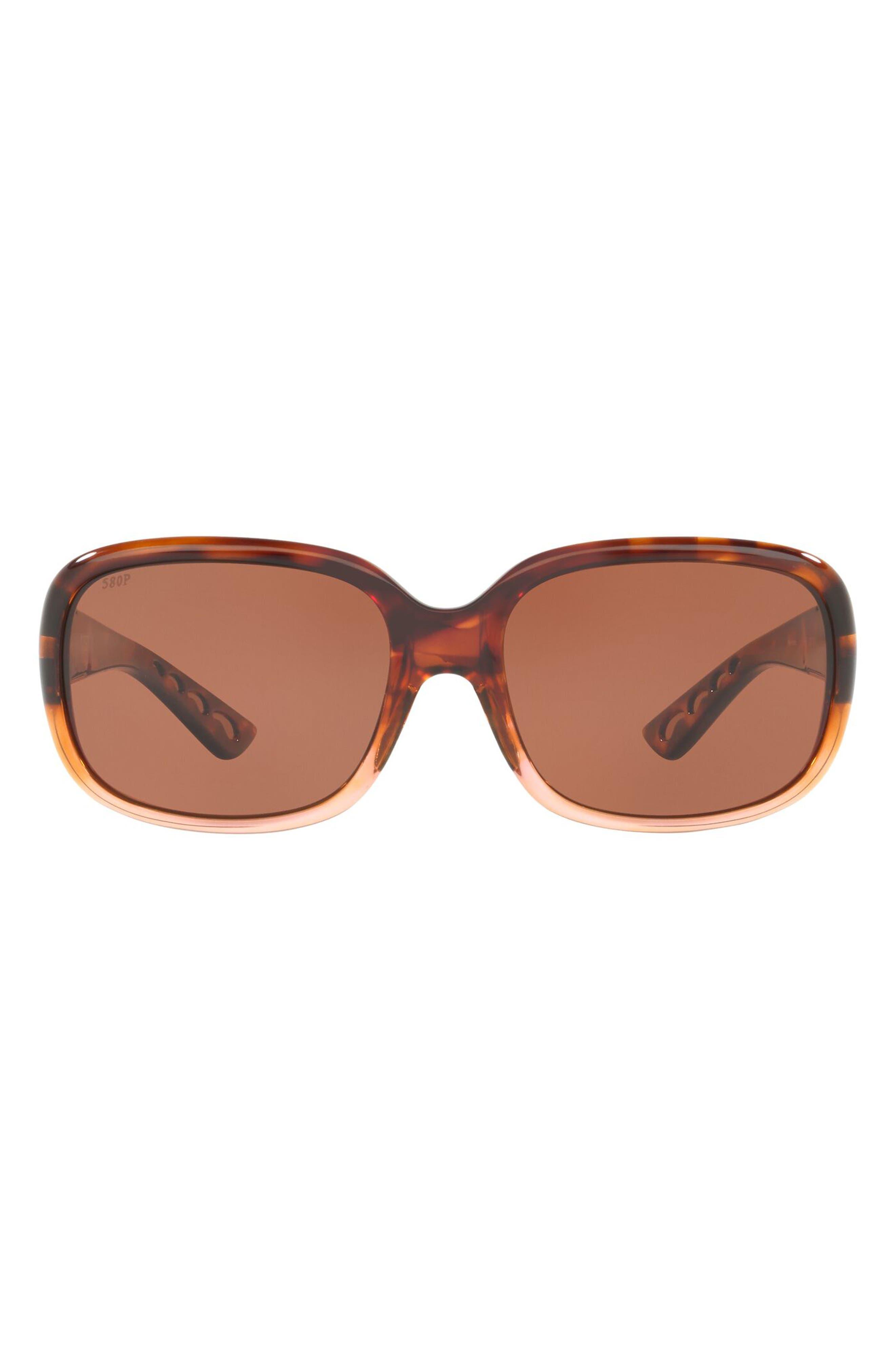Gannet 58mm Polarized Oval Sunglasses
