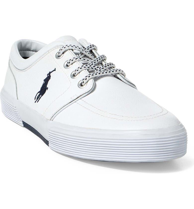 POLO RALPH LAUREN Faxon Sneaker, Main, color, WHITE LEATHER
