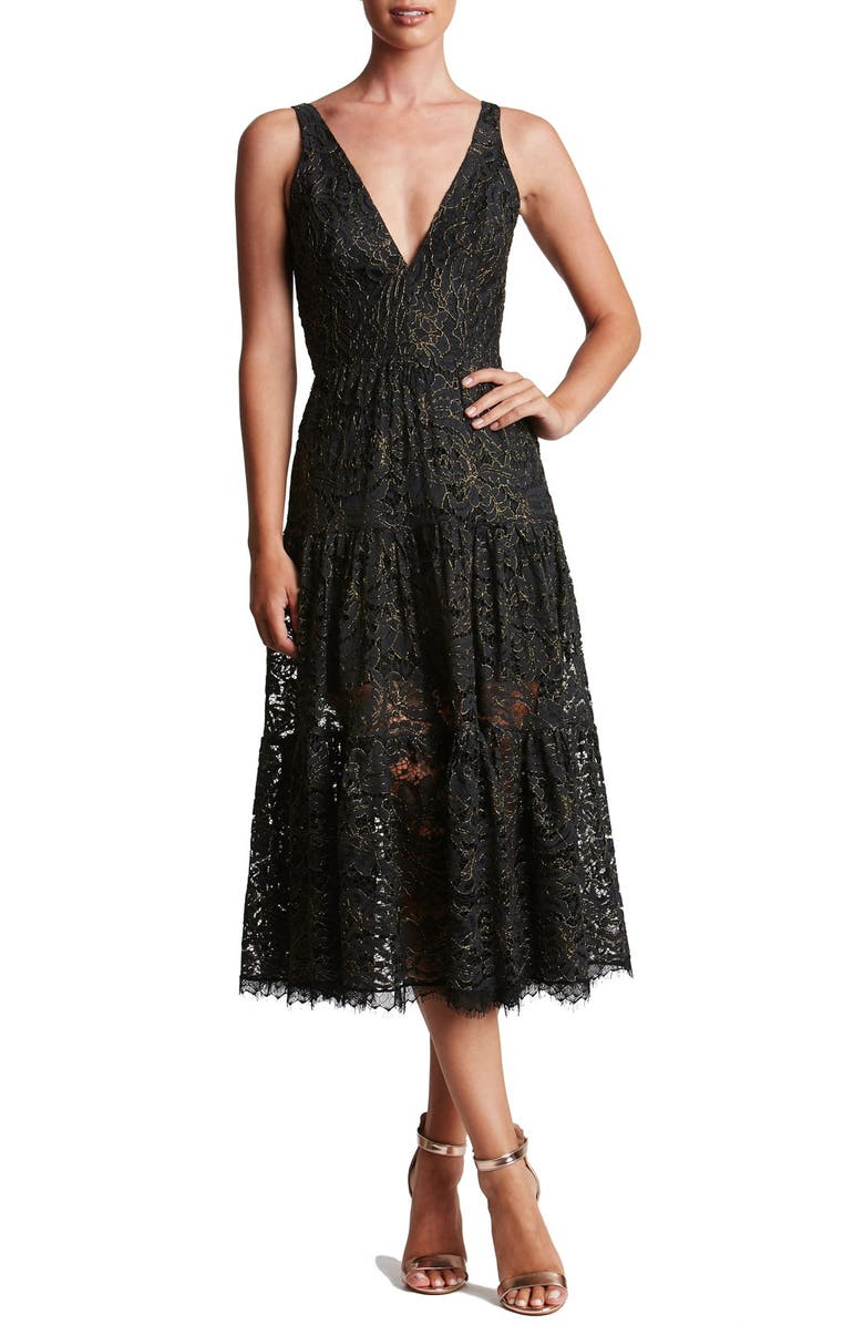 Dress The Population Madelyn Midi Dress Nordstrom