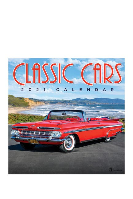 Image of TF Publishing 2021 Classic Cars Wall Calendar