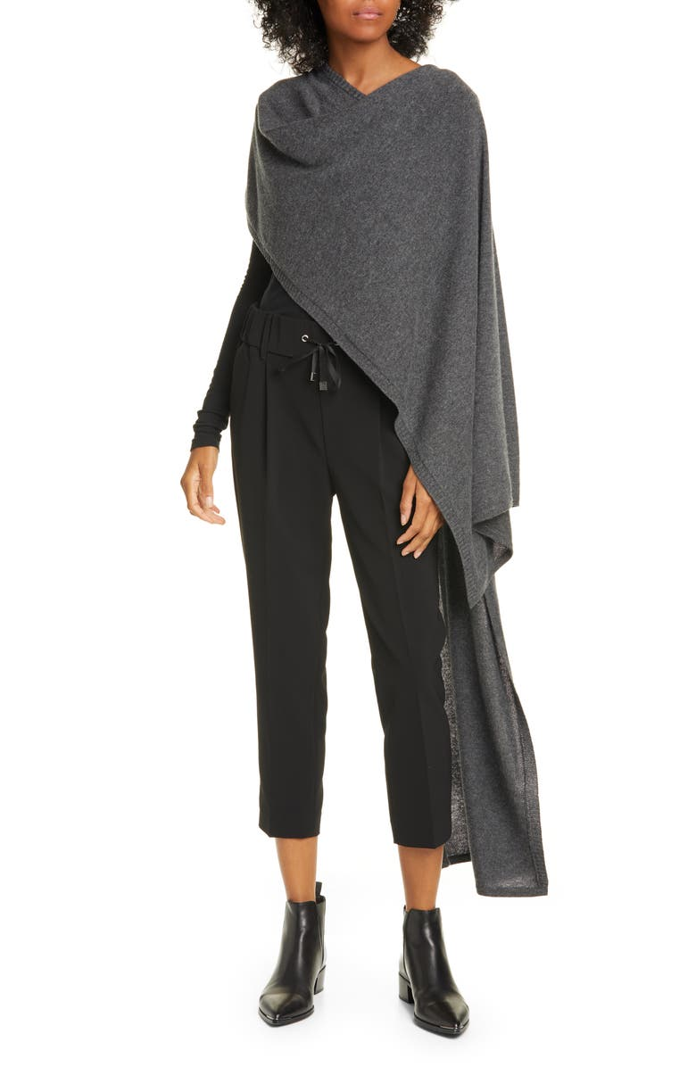 ATM ANTHONY THOMAS MELILLO Wool & Cashmere Sweater Cape, Main, color, FLANNEL