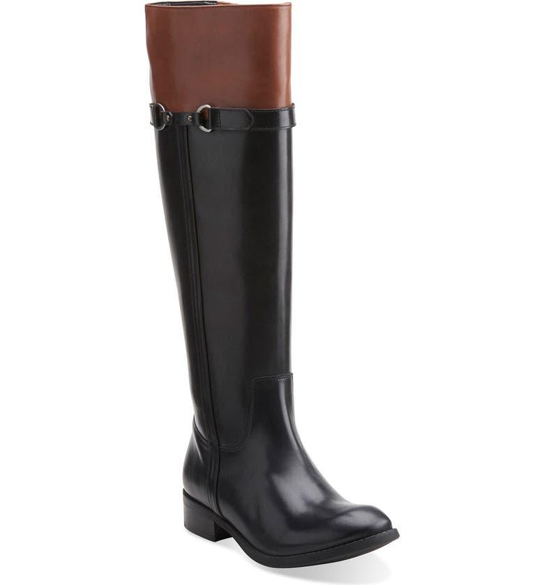 CLARKS<SUP>®</SUP> 'Pita Topeka' WaterproofRiding Boot, Main, color, 003