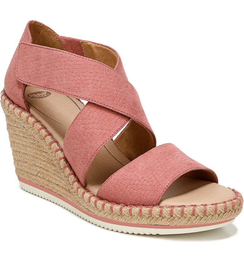 DR. SCHOLL'S Vacay Wedge Sandal, Main, color, WEATHERED CLAY FABRIC