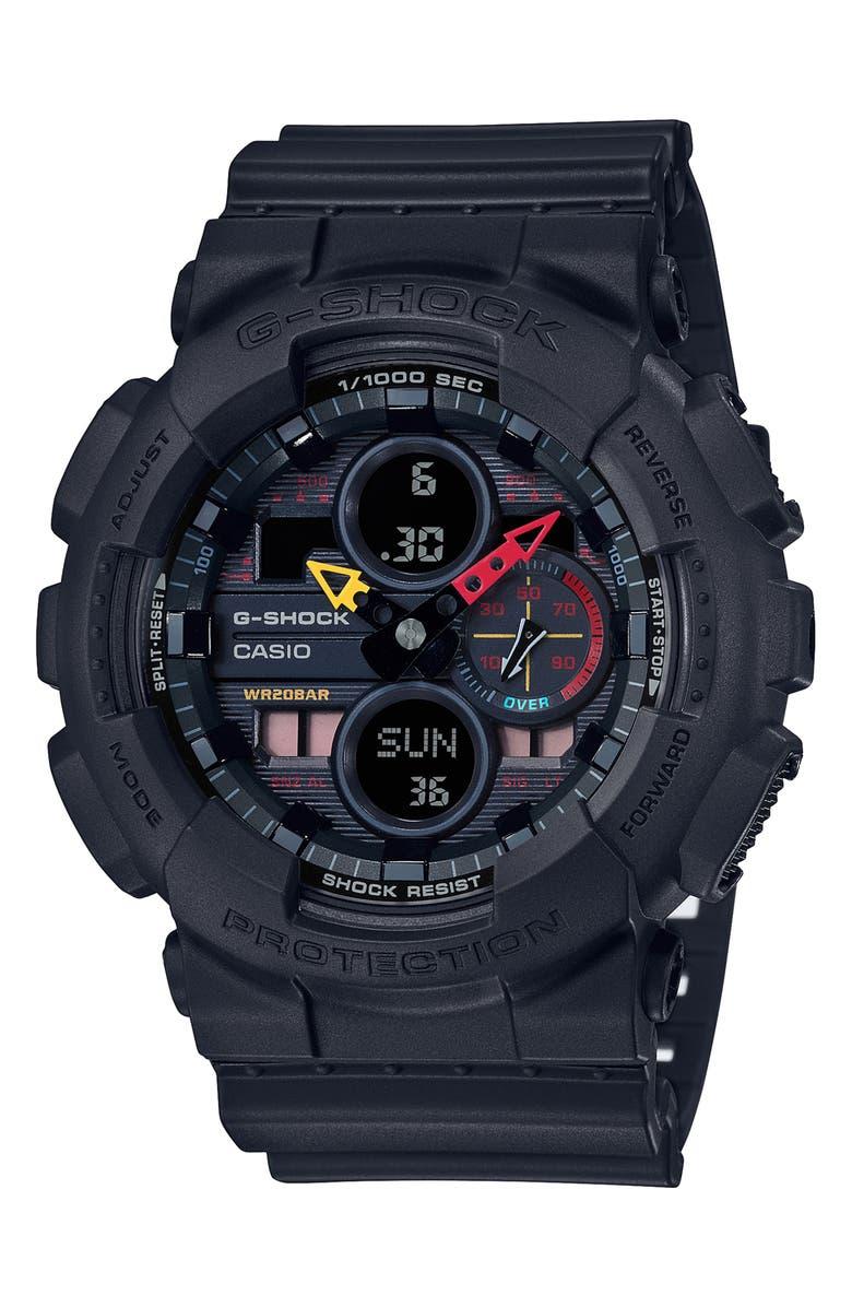 G-SHOCK BABY-G G-Shock Resin Ana-Digi Watch, 51mm, Main, color, 001