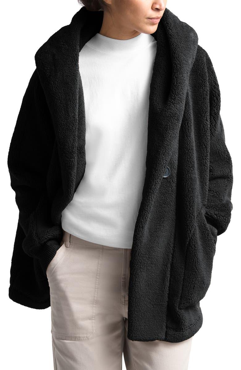 THE NORTH FACE Campshire Fleece Wrap Jacket, Main, color, TNF BLACK