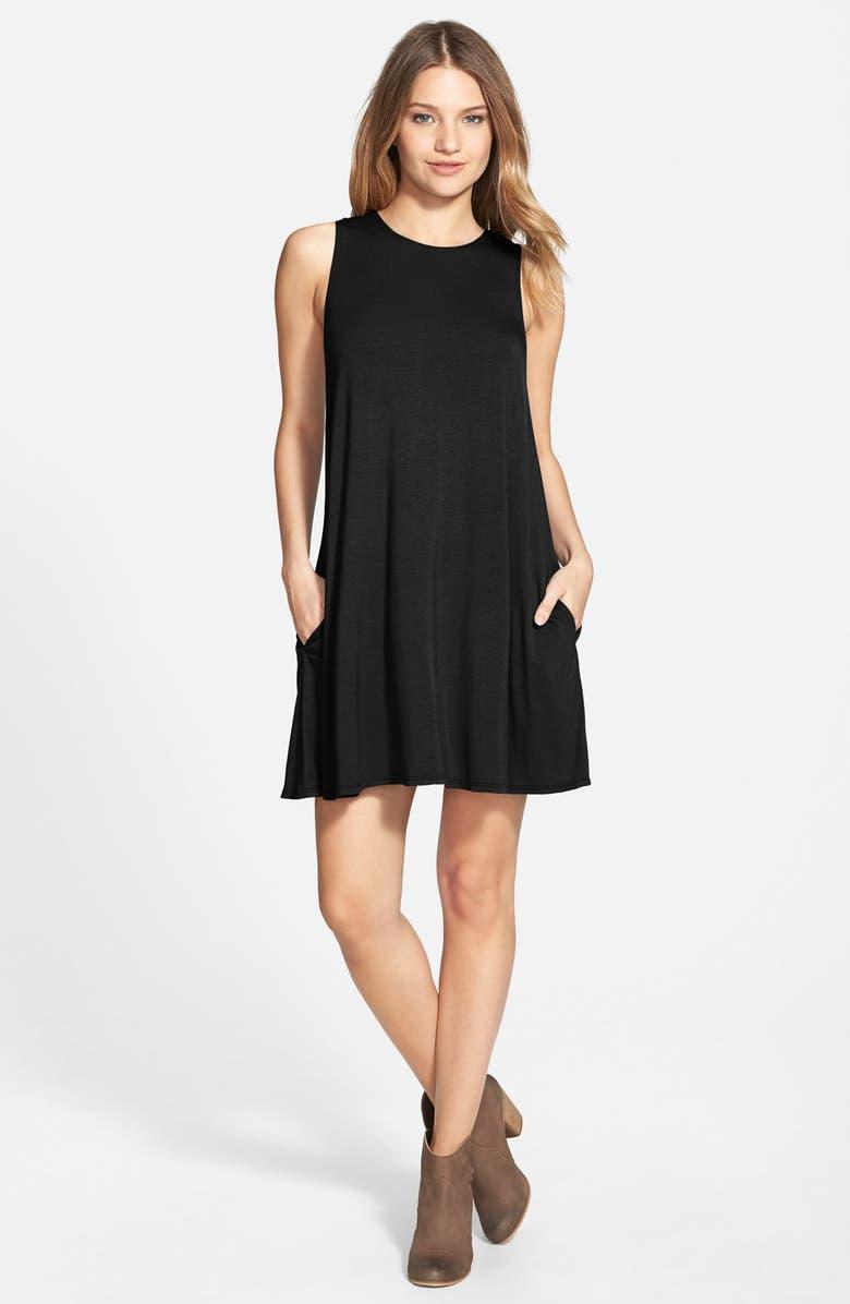 SOCIALITE High Neck Dress, Main, color, 001