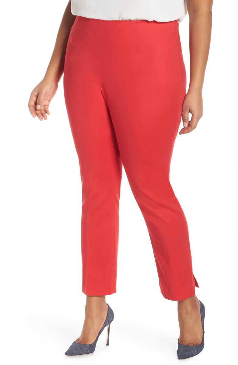 Vince Camuto Doubleweave Side Zip Pants Plus Size