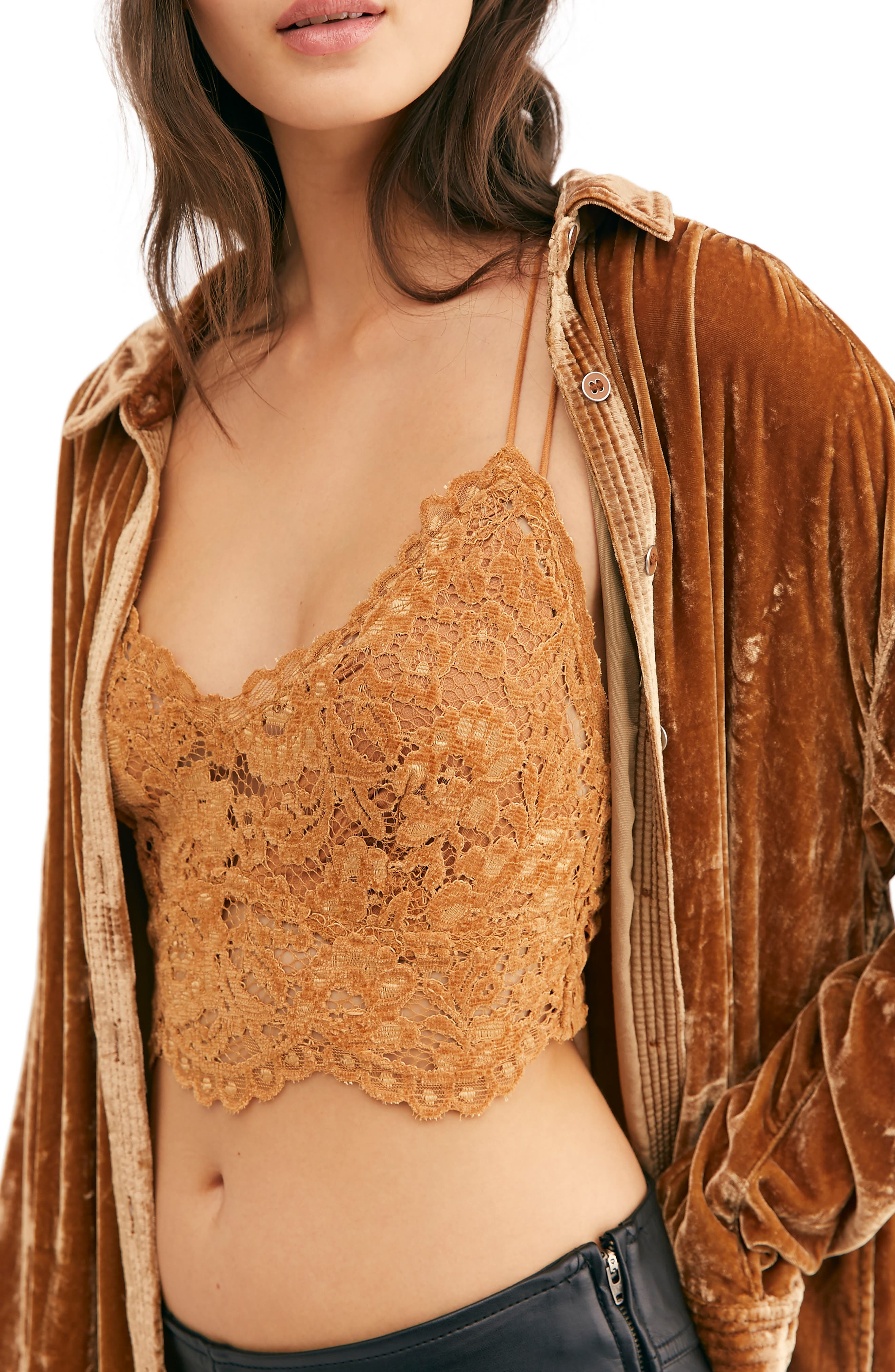 Free People Intimately FP Celine Longline Lace Bralette