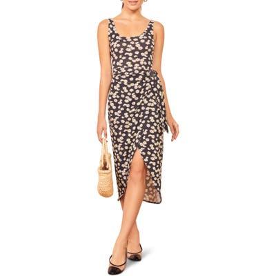 Reformation Kaila Wrap Style Jersey Dress, Black