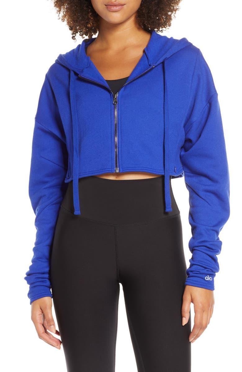 ALO Extreme Crop Jacket, Main, color, SAPHHIRE
