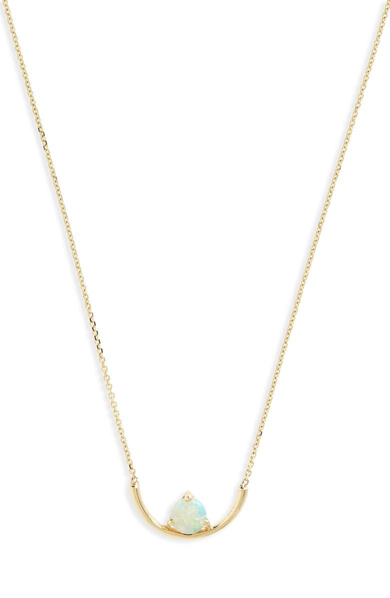 WWAKE Opal Arc Necklace, Main, color, OPAL/ GOLD