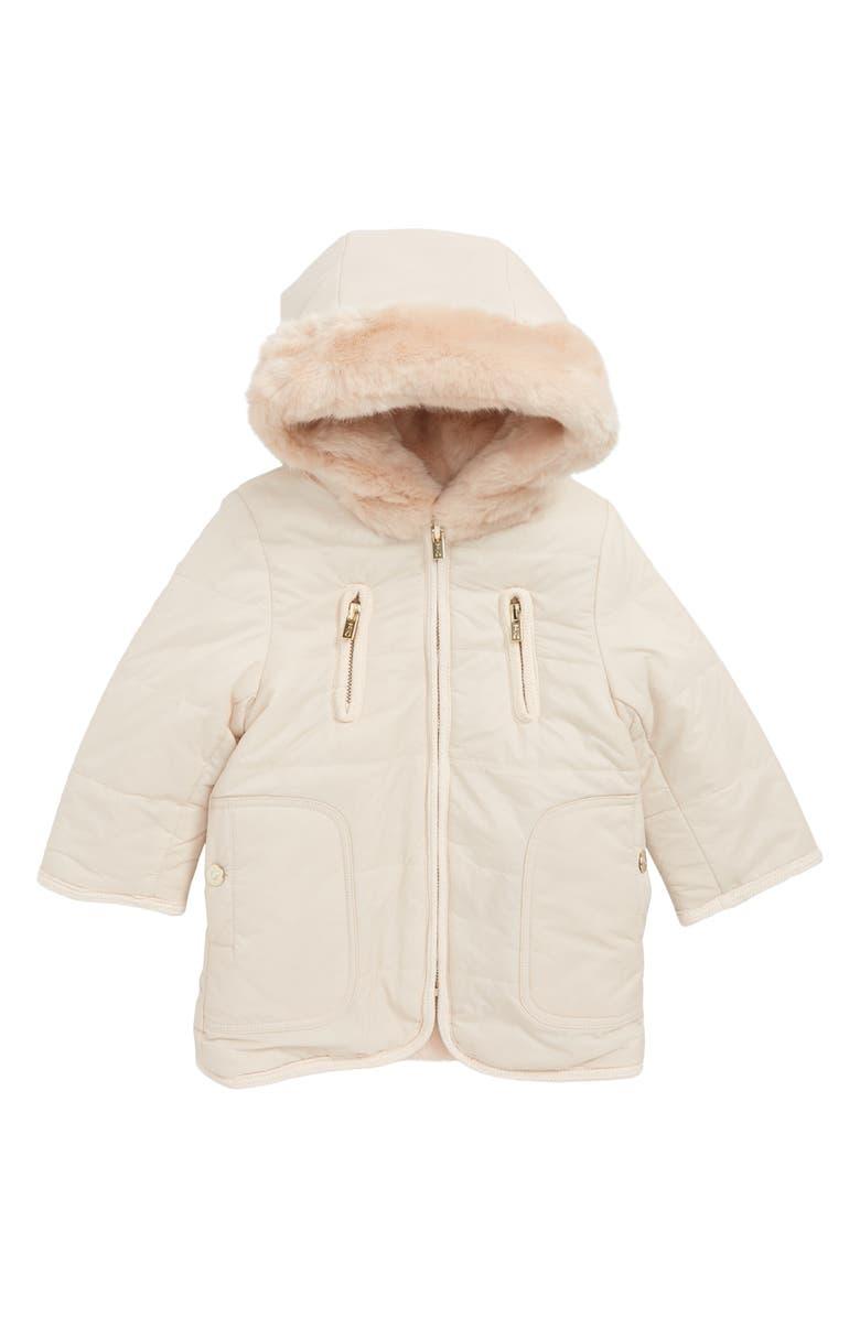 13c7d25400 Chloé Reversible Hooded Faux Fur Puffer Jacket (Toddler Girls ...