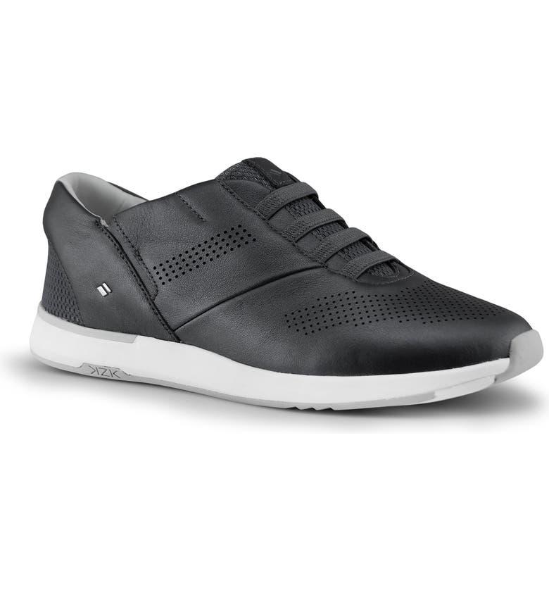 KIZIK Atlanta Hands-Free Slip-On Sneaker, Main, color, BLACK SHIMMER LEATHER