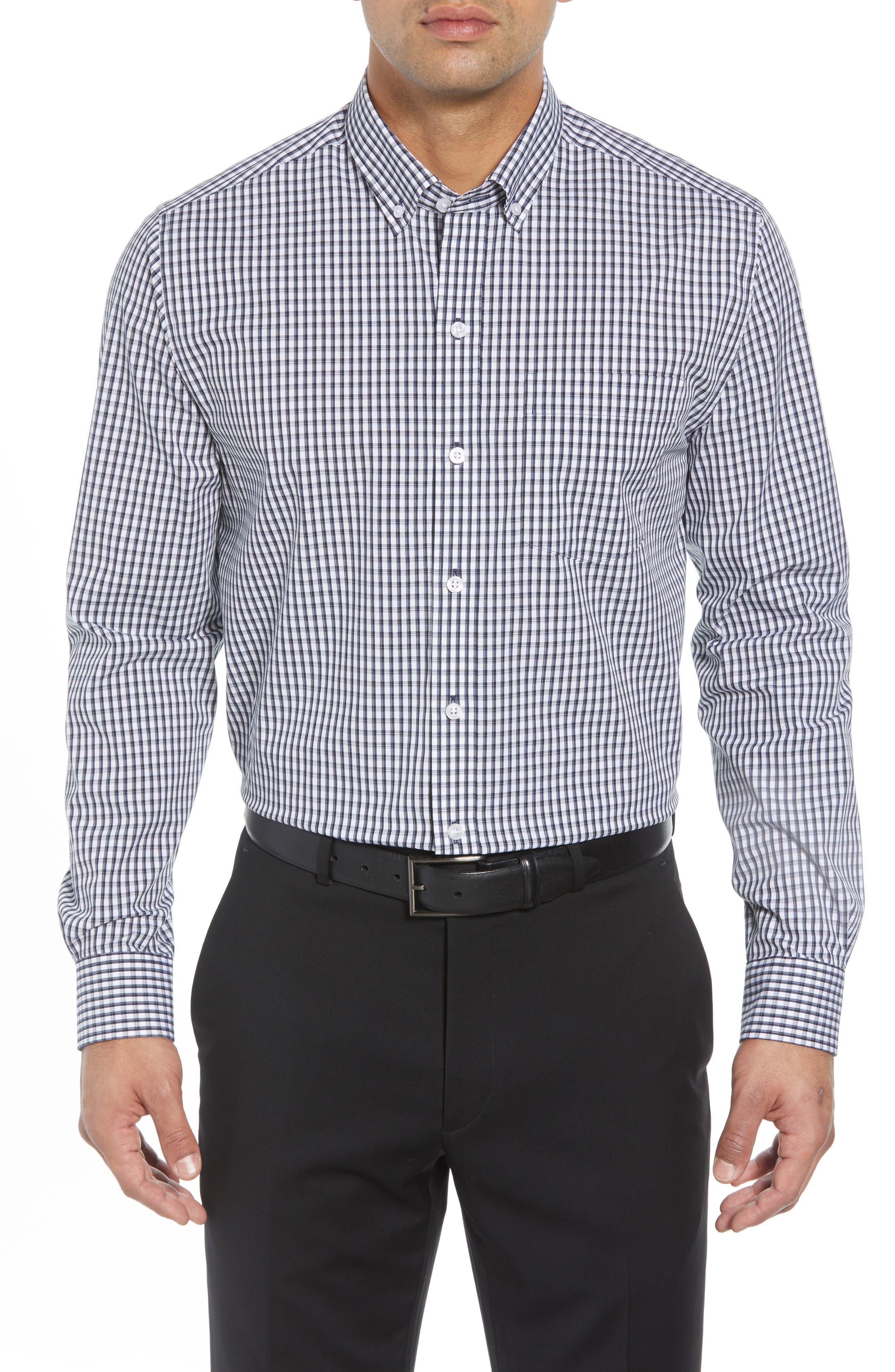 Regular Fit Gingham Non-Iron Sport Shirt