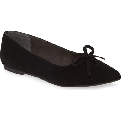 Seychelles In Theme Pointed Toe Bow Flat- Black
