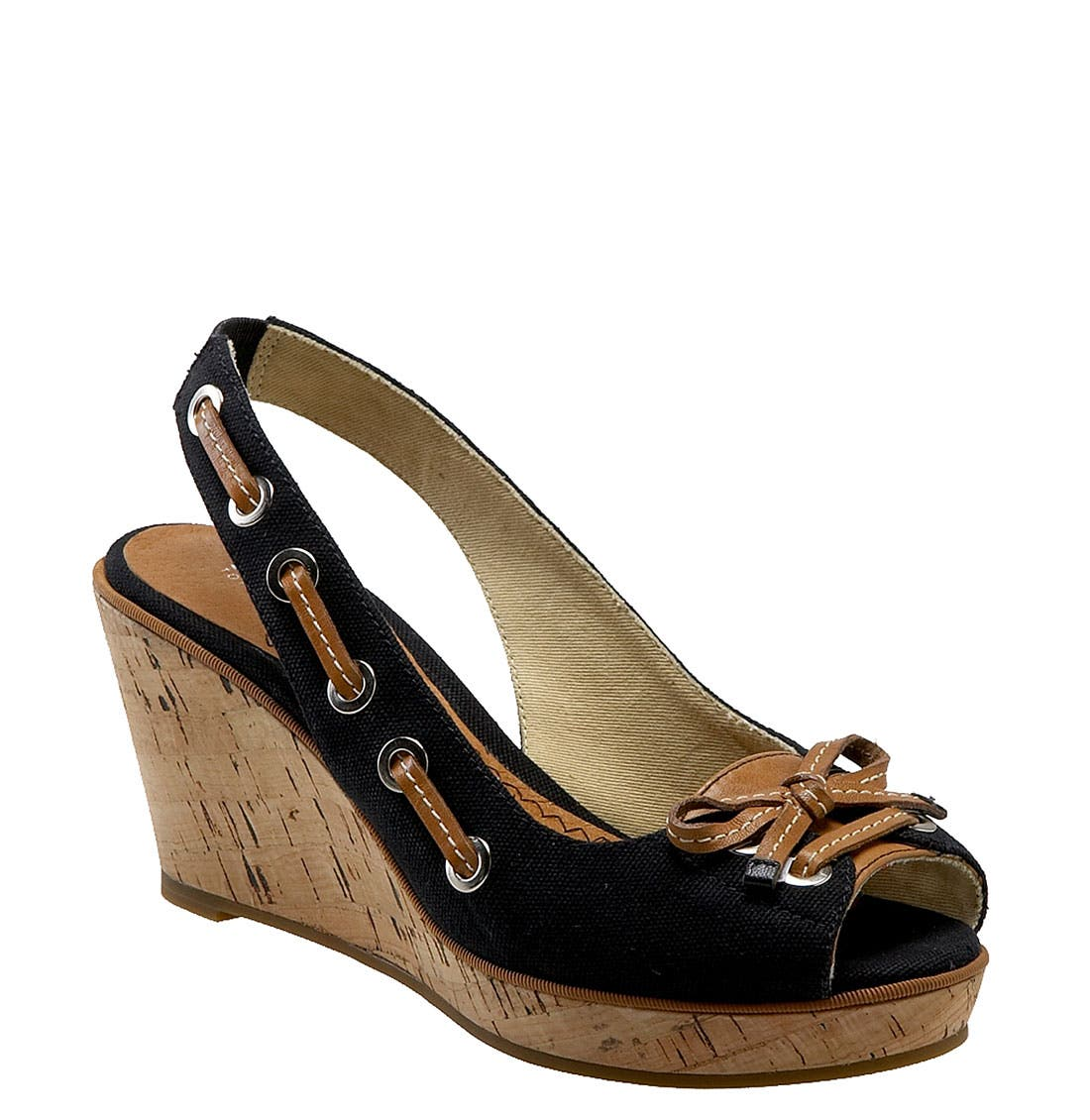 ,                             Top-Sider<sup>®</sup> 'Southport' Slingback Wedge,                             Main thumbnail 1, color,                             001