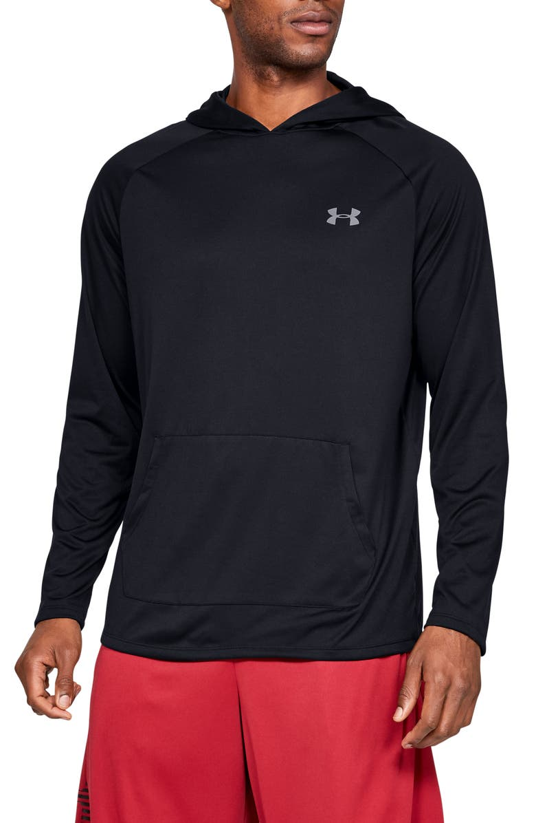 UNDER ARMOUR UA Tech<sup>™</sup> Pullover Performance Hoodie, Main, color, 001