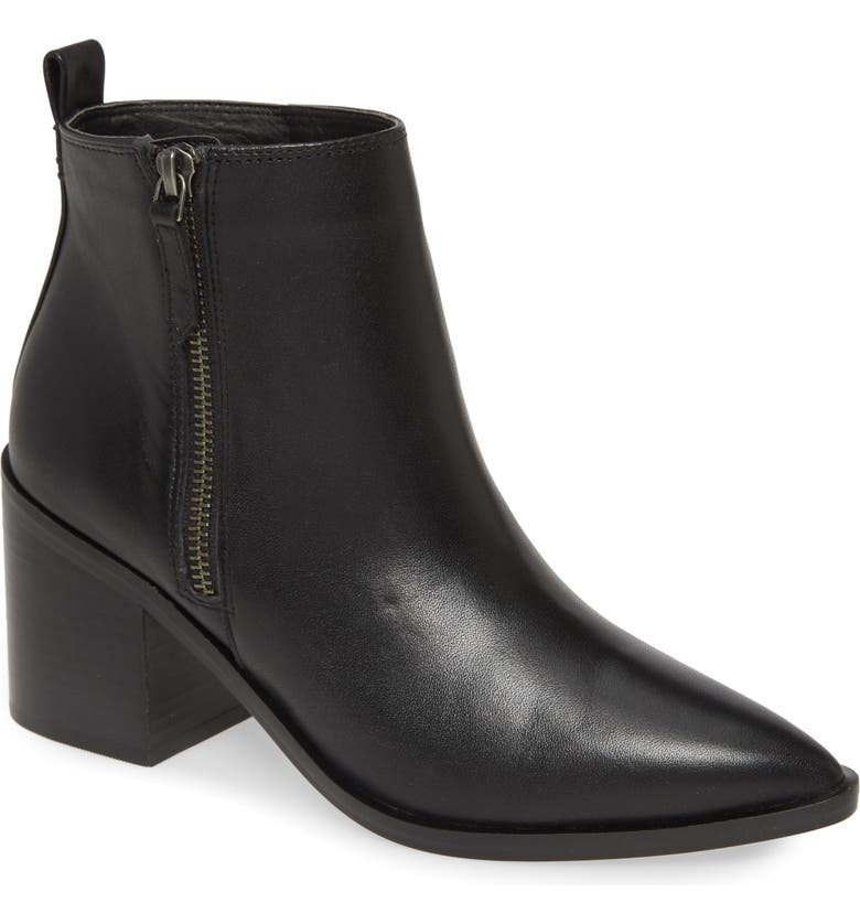 TREASURE & BOND Freda Bootie, Main, color, BLACK LEATHER