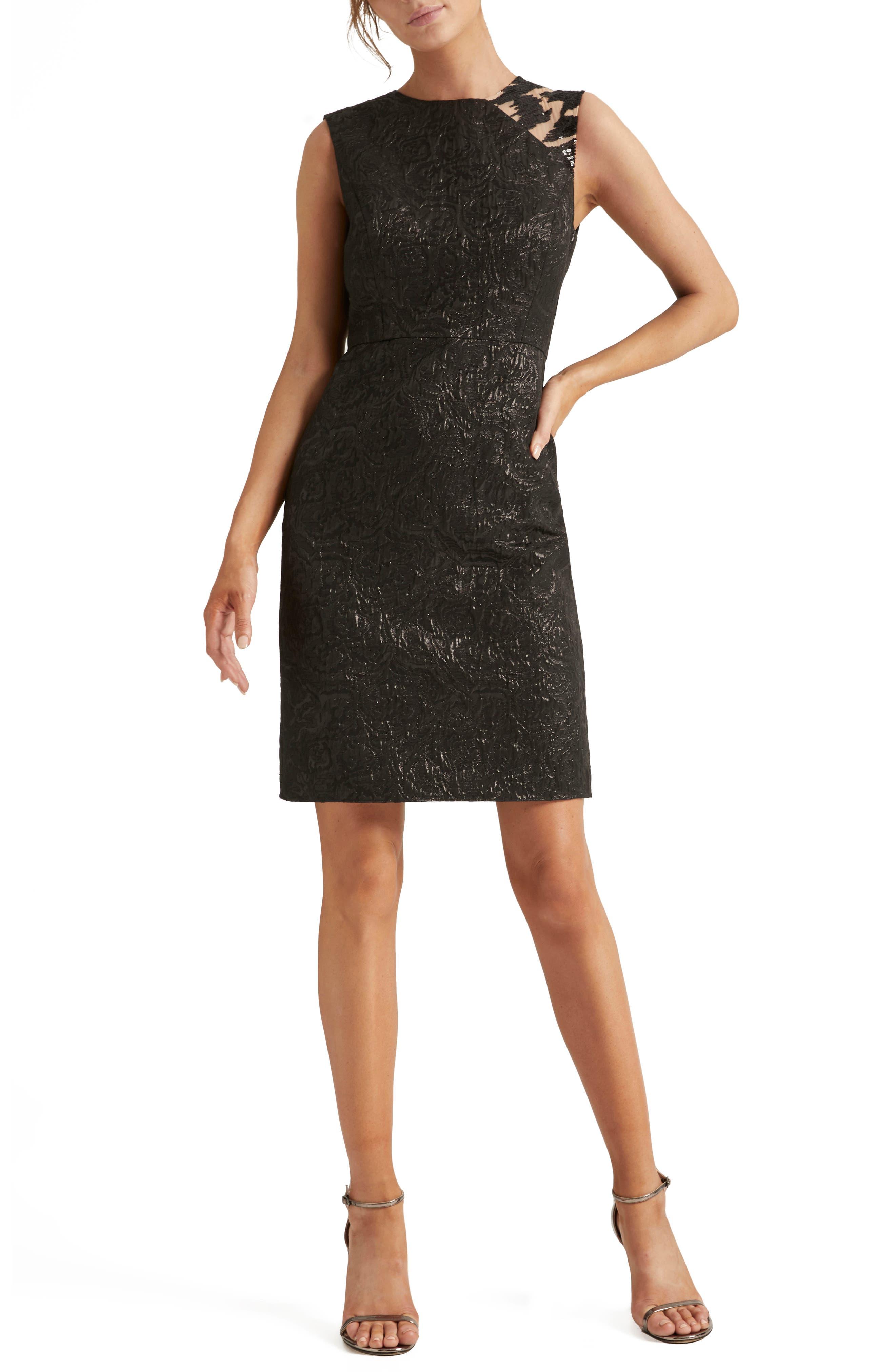 Jacquard Embellished Dress