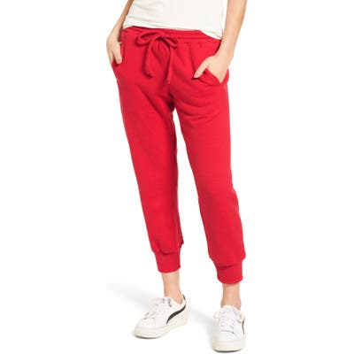Sub Urban Riot Cambridge Crop Sweatpants, Red