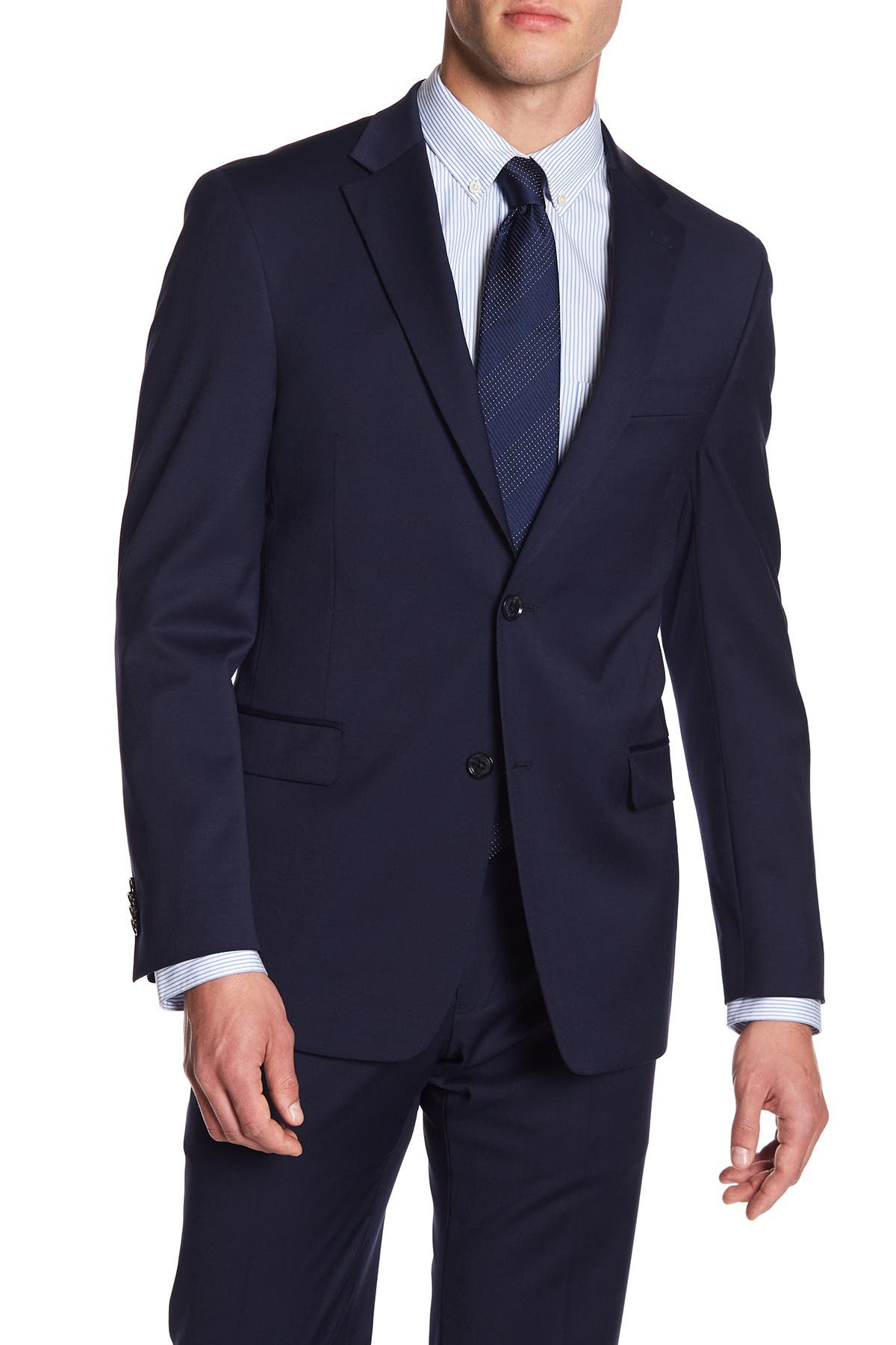 Image of Tommy Hilfiger Adams Two Button Notch Lapel Modern Fit TH Flex Performance Suit Separates Jacket
