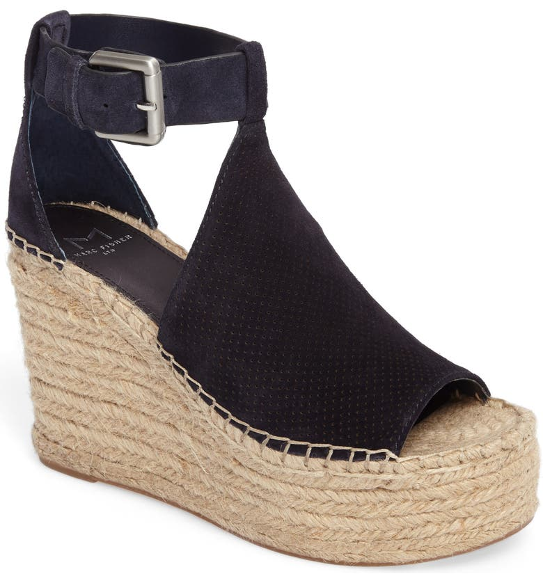8aef93c7399 Annie Perforated Espadrille Platform Wedge
