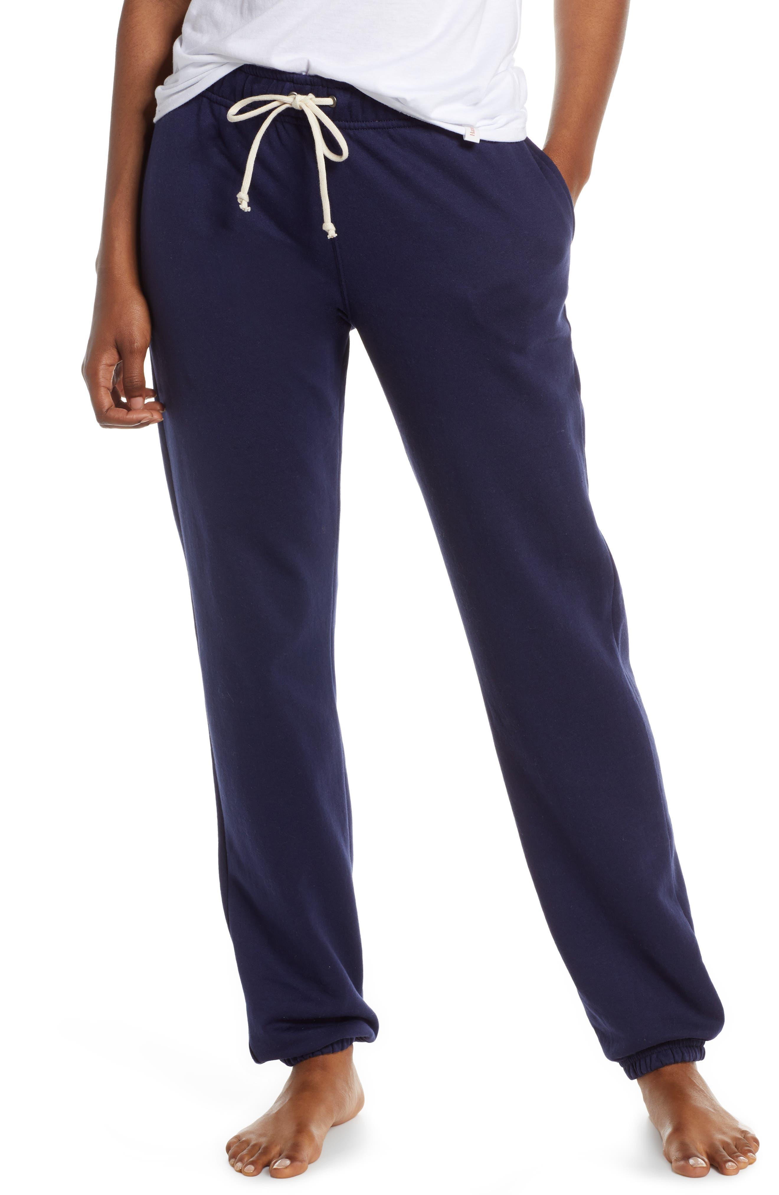 Hanes Luxe Fleece Sweatpants, Blue