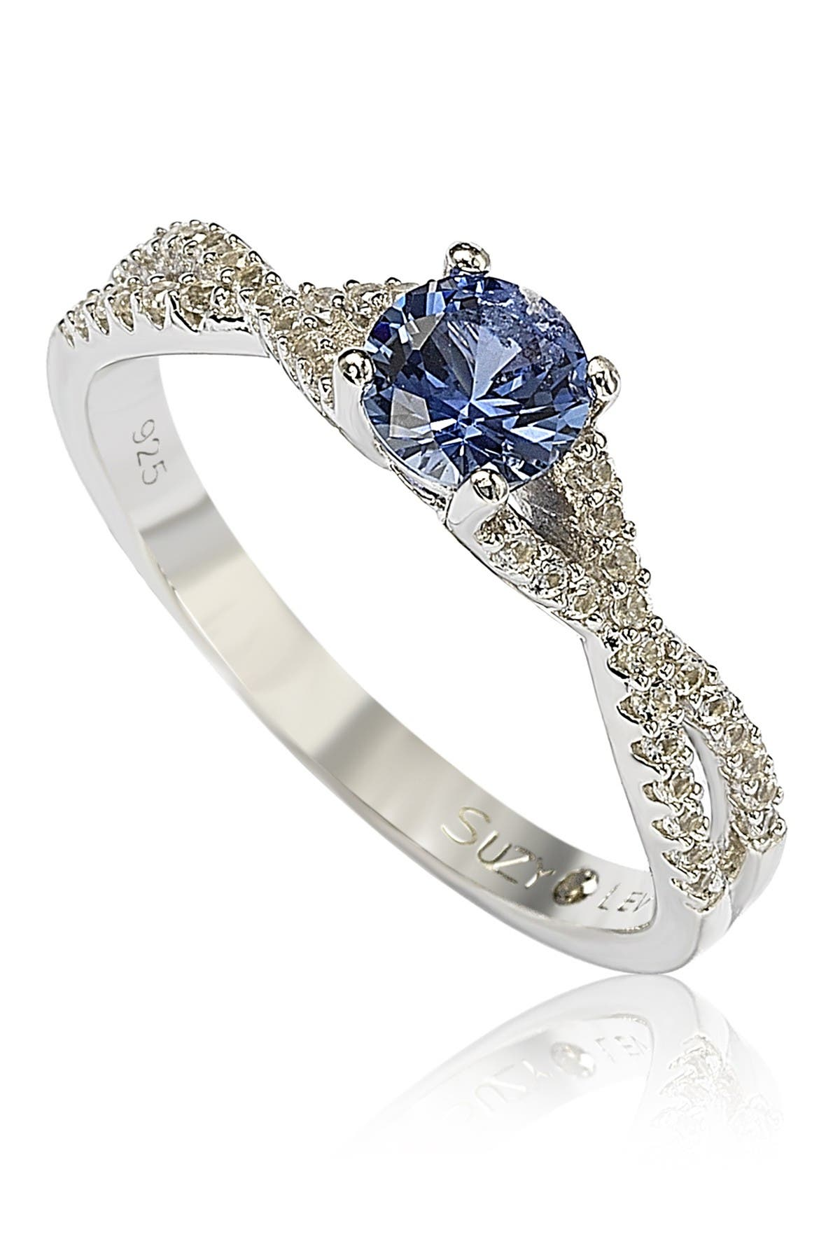 Image of Suzy Levian Sterling Silver Sapphire Ring