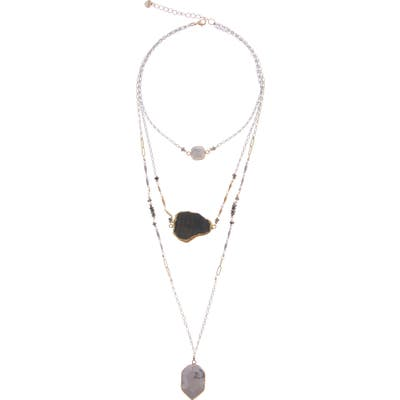 Nakamol Design Howlite & Agate Multistrand Layered Necklace