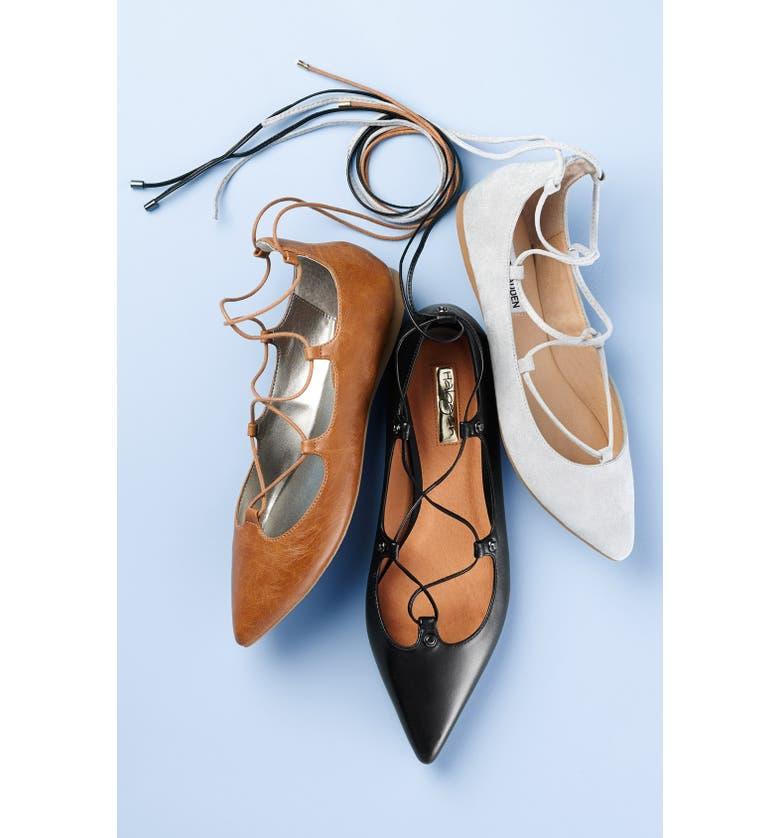 STEVE MADDEN 'Eleanorr' Ballet Flat, Main, color, 001