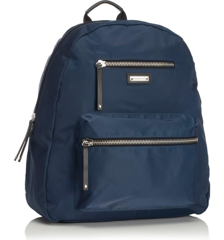 STORKSAK 'Charlie' Backpack Diaper Bag, Main, color, NAVY